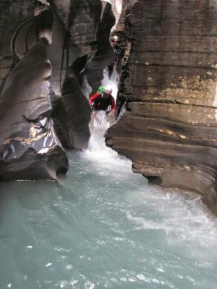 canyon sous glaciaire des grisons