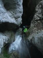 Beau petit canyon de la province de Rieti