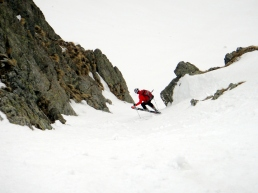 ski de pente raide dans le mercantour