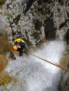 départ arrosé dans la grande cascade