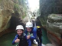 Canyon initiation adapté aux enfants sur la Côte d'Azur