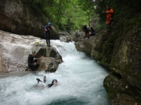 stage eau vive conditions réelles canyoning